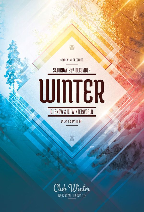 This Psd Flyer Template Is Designed To Promote A Winter Event