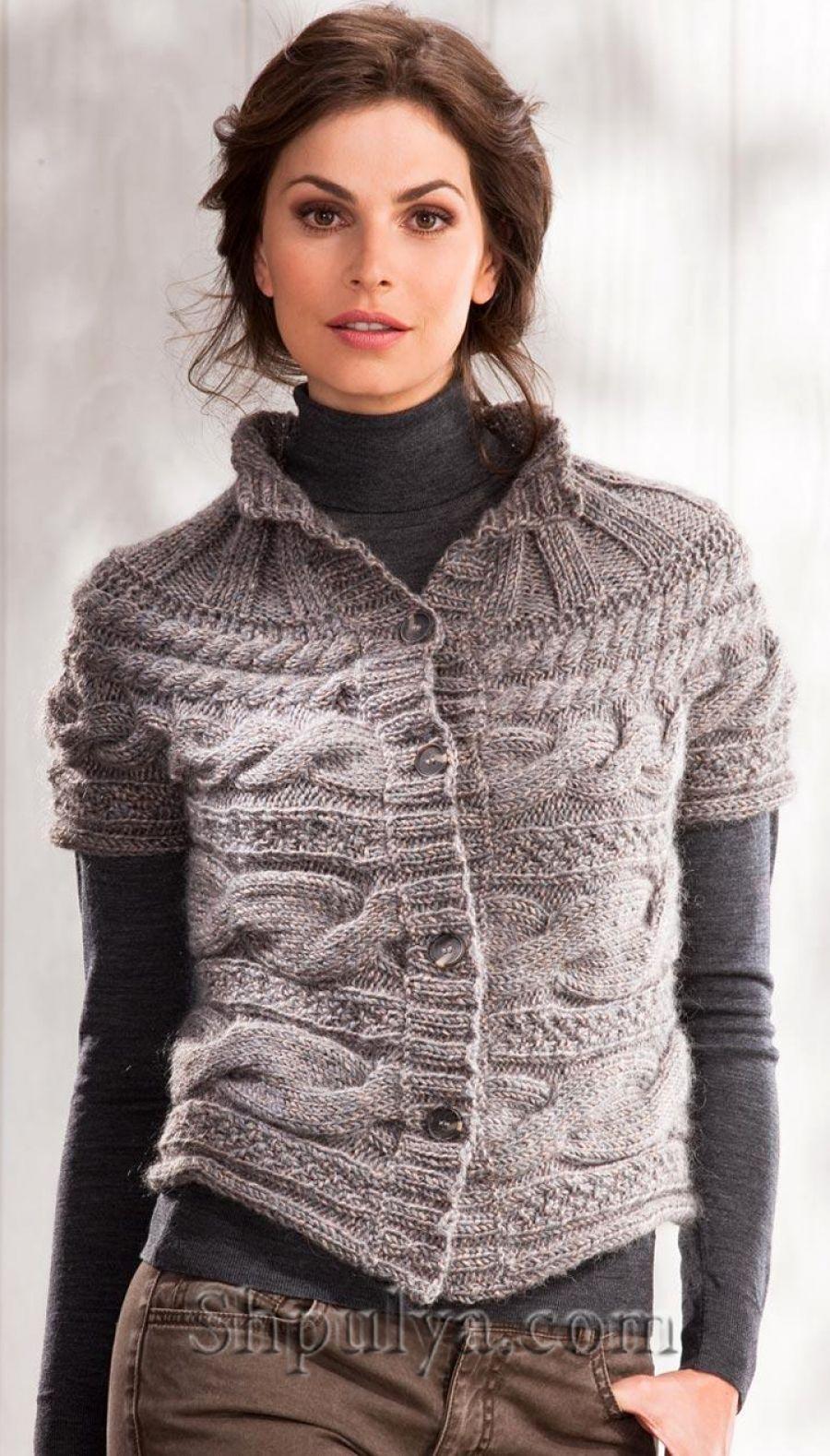 Безрукавка ACHAT | chaquetas, rebecas, blusas de punto y crochet ...