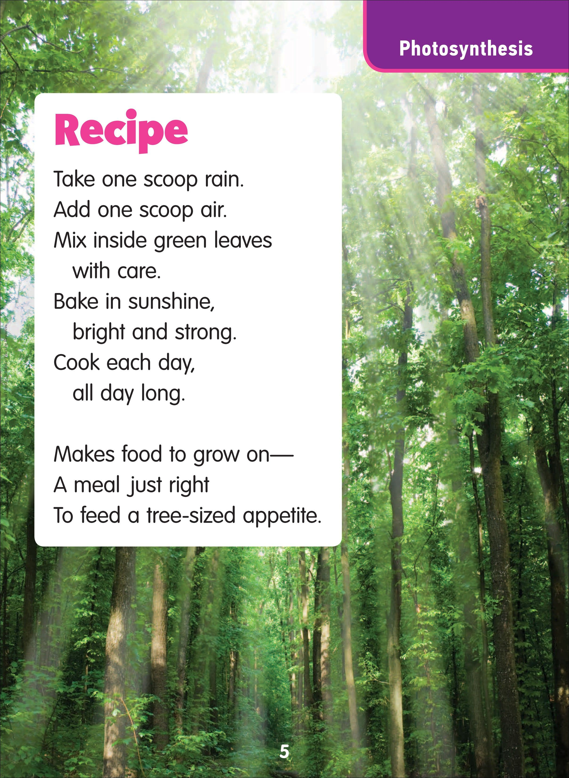 Photosynthesis Poem. #Poetry #Science. From Science Poems ...