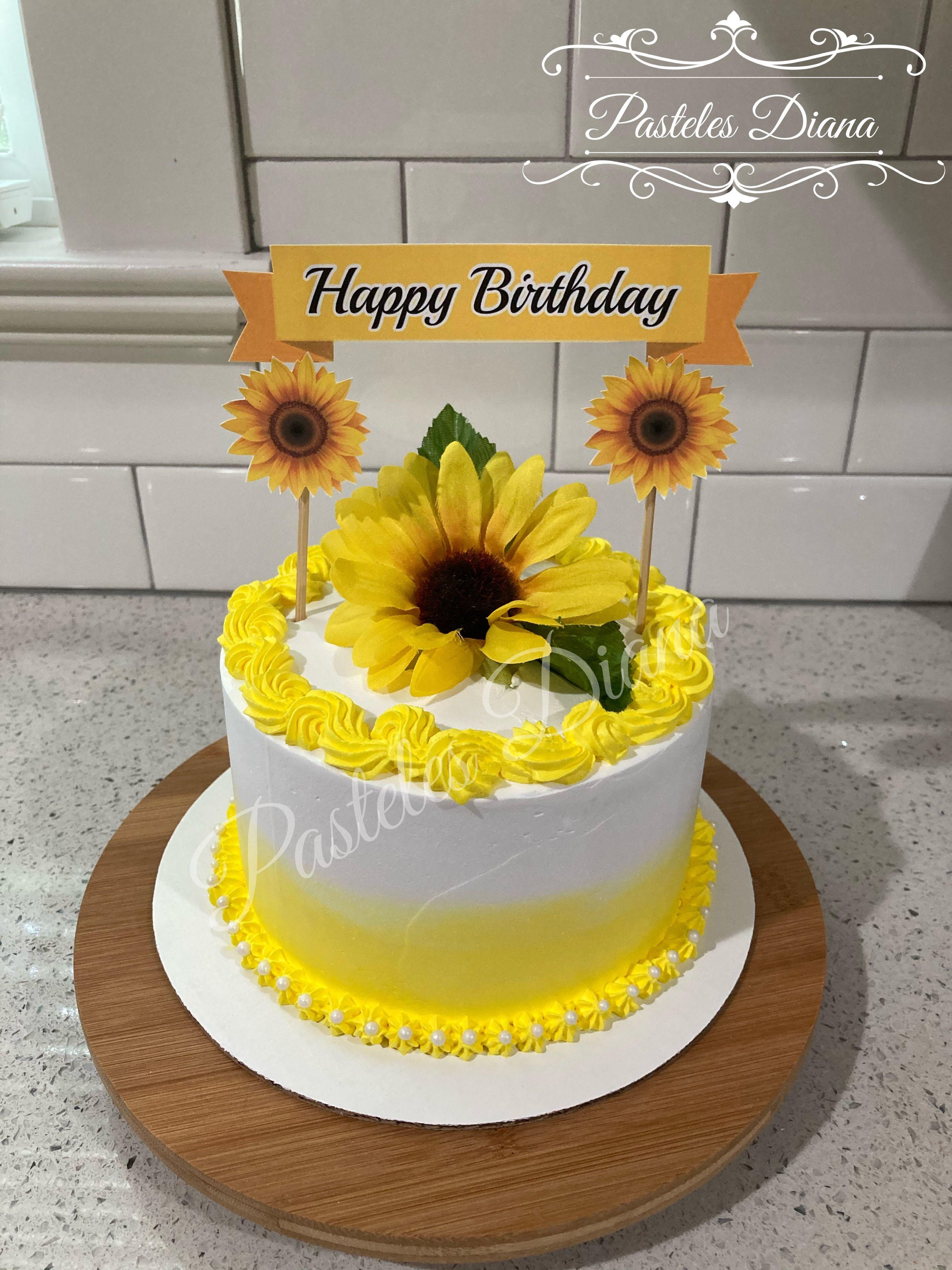 Pastel De Girasol Desserts Cake Food