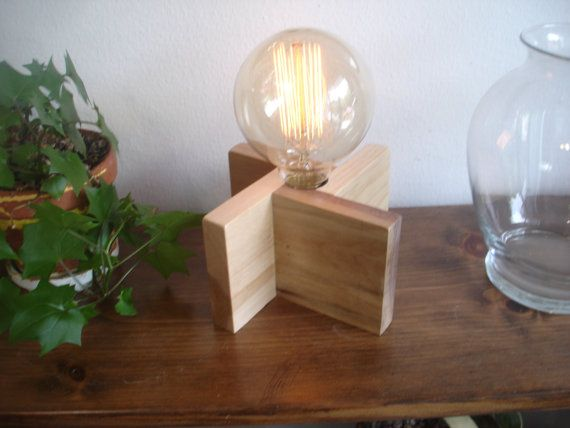 24 Four Woods Walnut Cherry Birch And Pine With Classic Edison Globe Bulb An In Line Dimmer Switch Table Lamp Wood Bulb Table Lamp