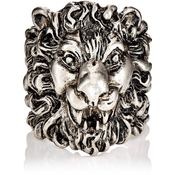 715304765 Gucci Men's Lion Head Ring (415 CAD) ❤ liked on Polyvore featuring men's  fashion, men's jewelry, men's rings, silver, mens rings, mens engraved rings,  mens ...