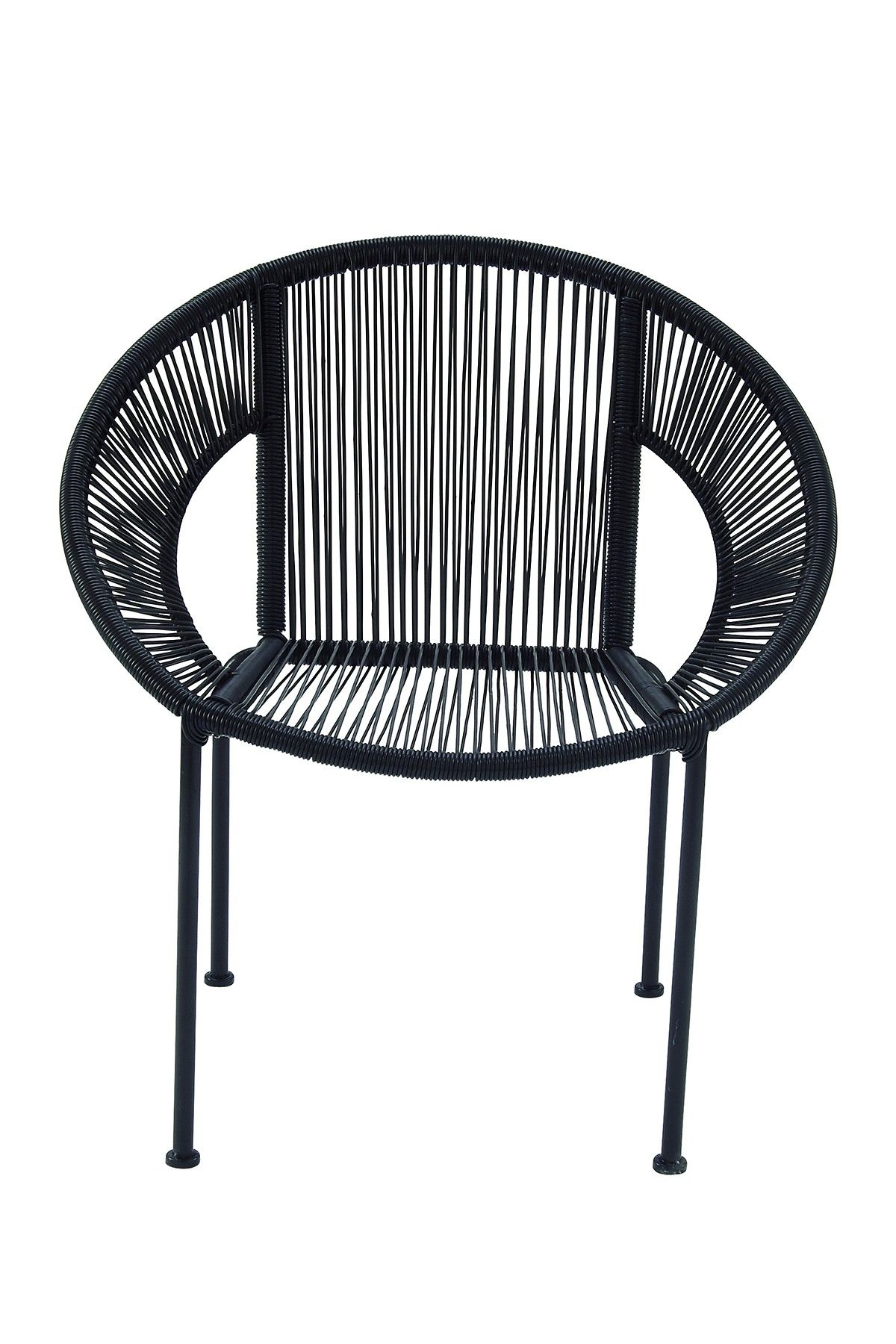 Beau UMA Footed Chair Footed Chair: Synthetic Rattan Chair Iron Frame  Measurements: W X D X H Seat Height Material: Plastic Rattan And Iron Care:  Wipe With A ...