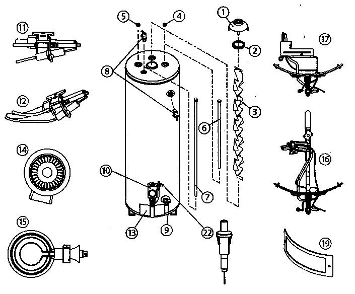 Hot Water Heater Diagram For Hotpoint