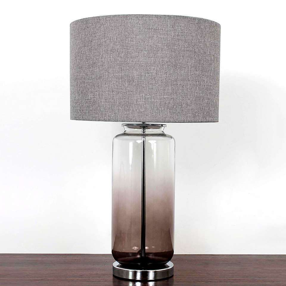 Large Ombre Glass Table Lamp Grey Table Lamps Glass Lamp Base Glass Table