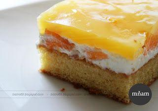 Bistro u starej mamy - recepty, rady a chute života: Ovocný broskyňový koláč so želatinou