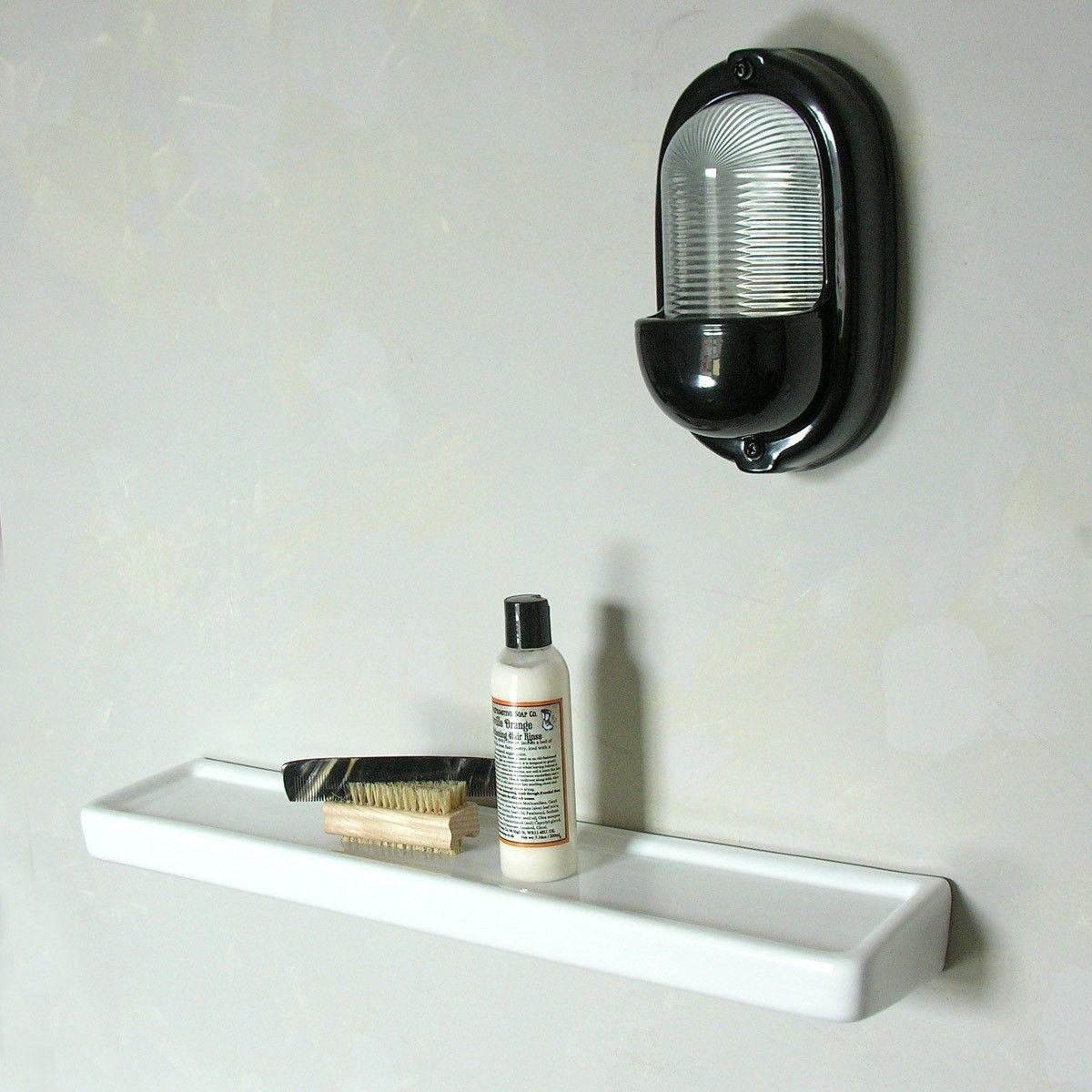 Long Bathroom Shelf White Ceramic Bathroom Shelves Wooden