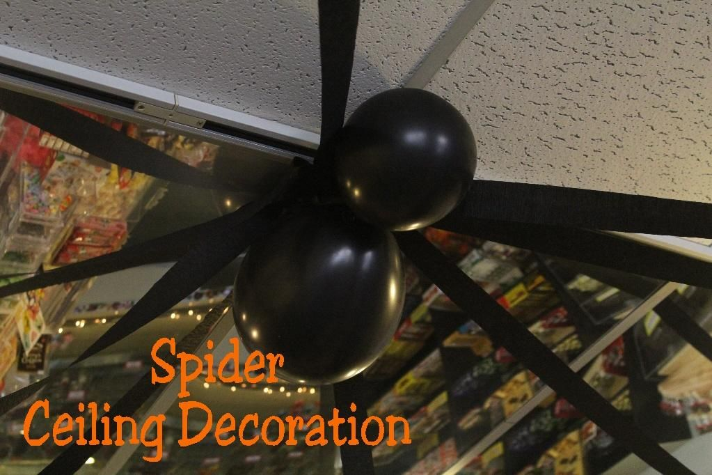 DIY Halloween  DIY Easy Spider Ceiling Decoration  DIY Halloween - halloween dance ideas