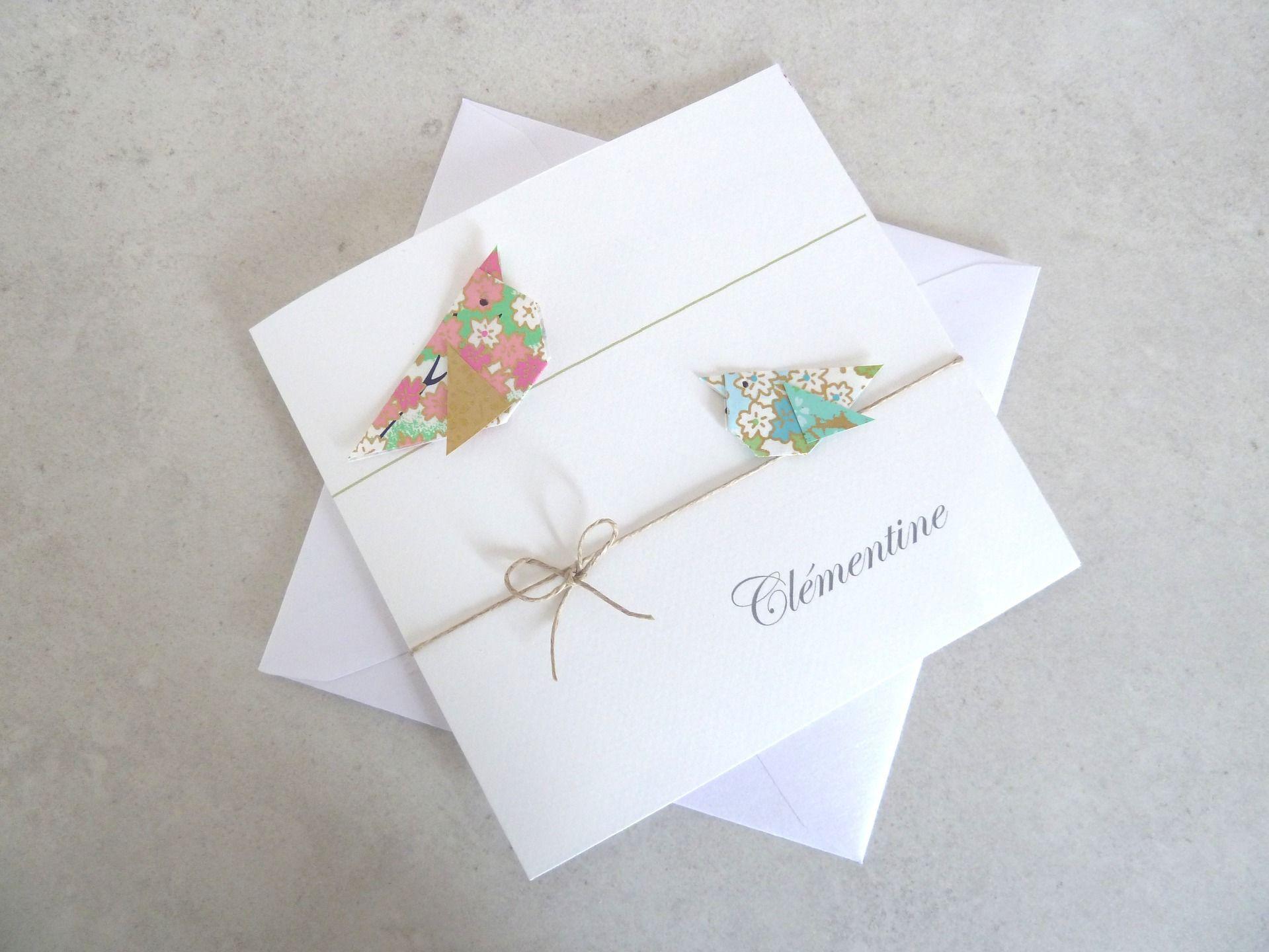 Très Faire Part Naissance Origami FR93 | Jornalagora AS85