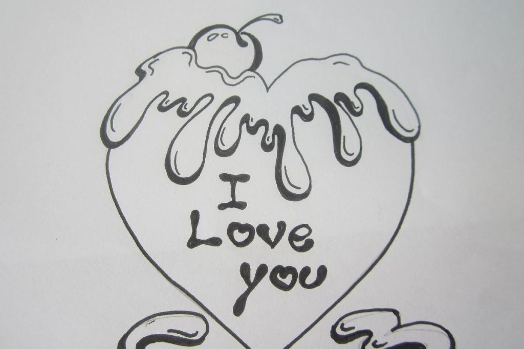 Cute love drawings for your boyfriend easy cute love for Cute easy patterns to draw
