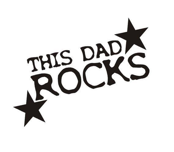 This dad rocks Velours Bügelbild in 24 Farben 105 von HeartyFrog, kr35.00