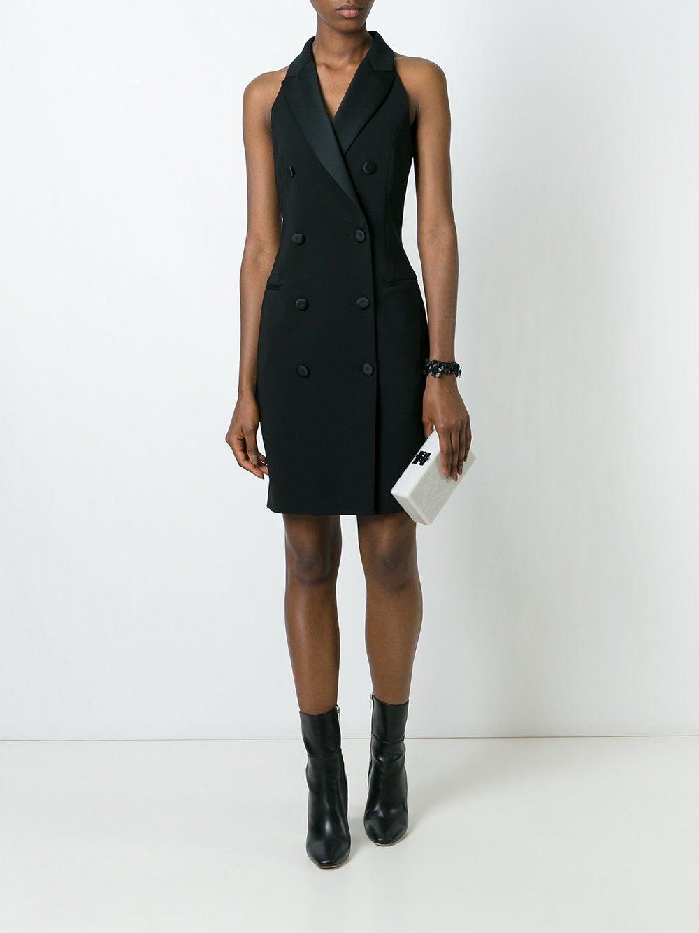 cb4d58cf6a6 Moschino sleeveless tuxedo dress