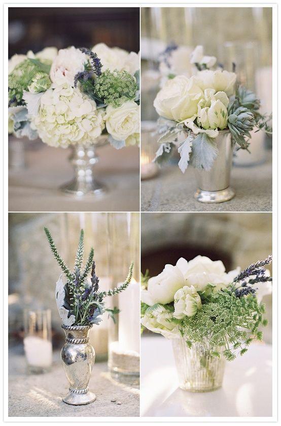 Floral Colors Whites Champagne Sage Lavender Flower Arrangements Wedding Flowers White Roses