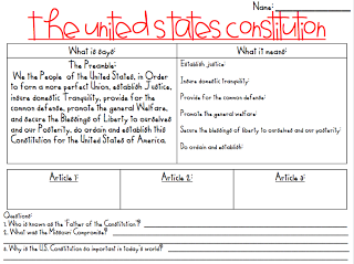 Preamble Worksheet Worksheets For School - Studioxcess