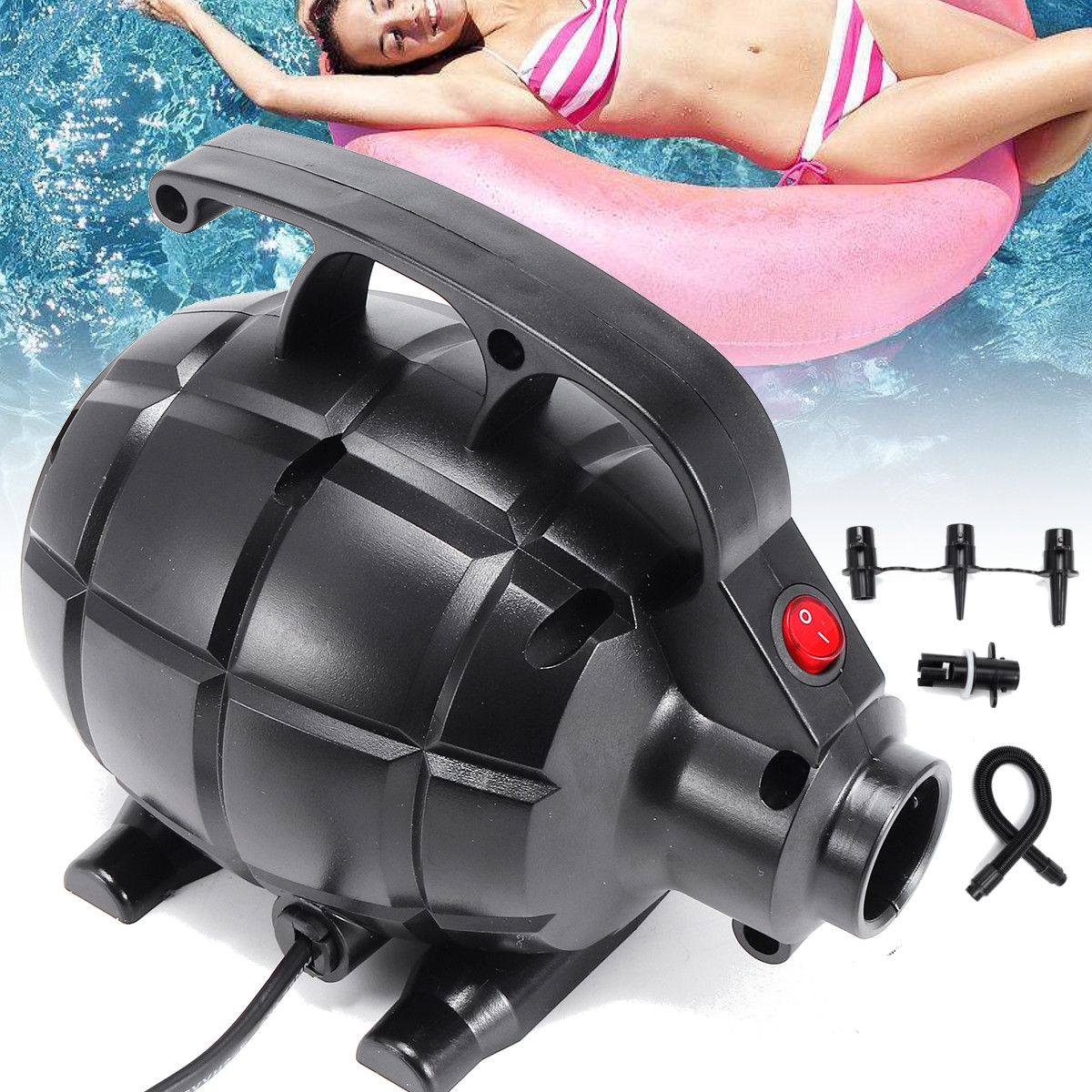 110V Electric Pump Inflatable Air Mattress Bed Pool
