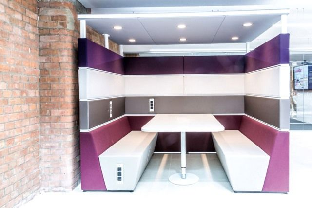 Booth style seating for an office breakout area, restaurant or - kleine u küche