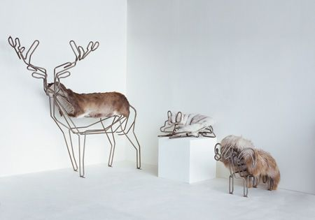 Heating Pipes Shaped Like The Skeletons Of Animals Covered With