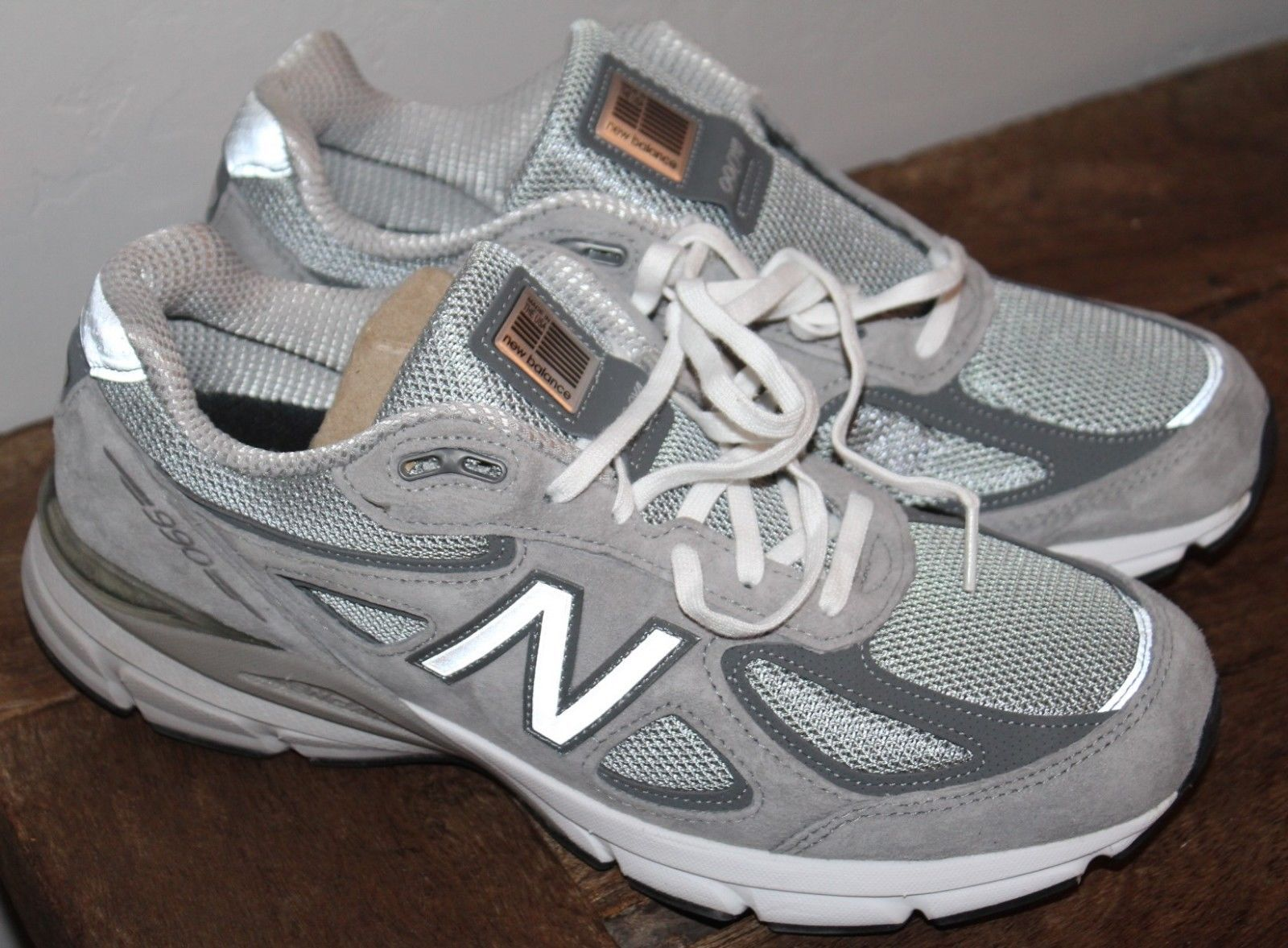 Men's BALANCE 990v4 Running Shoes Grey Castlerock NWOB 9 1/2 ...
