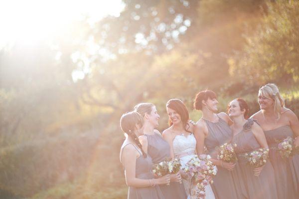 pink + grey wedding