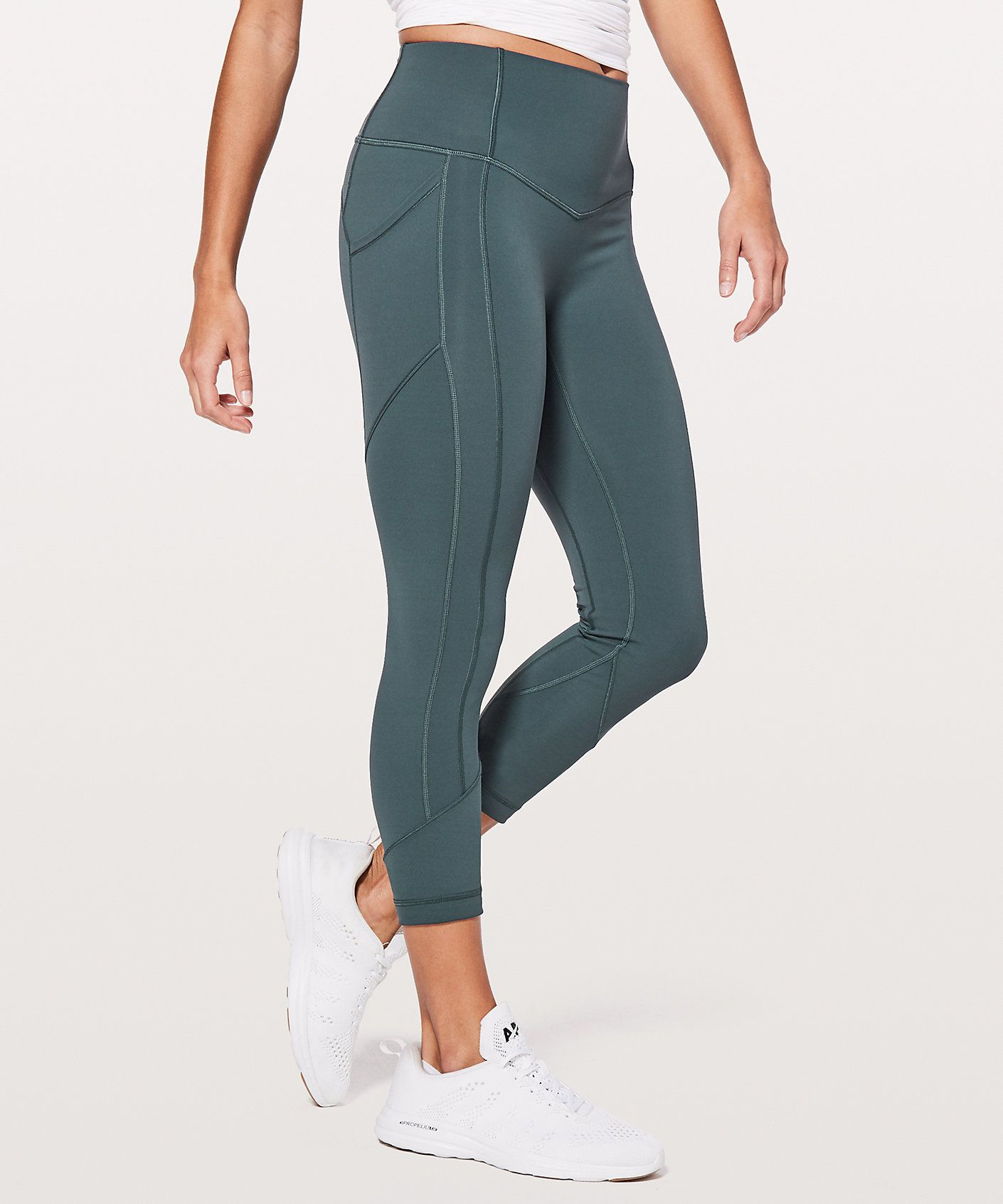 These highrise, allsport crops use zoned compression to
