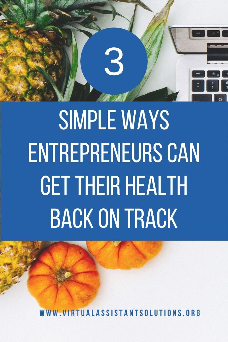 There are three simple ways to be healthier, and women entrepreneurs can get their health back on track making small changes. It doesn't have to be overwhelming or complicated!  #womenentrepreneurs #entrepreneur #health #healthchanges #selfcare