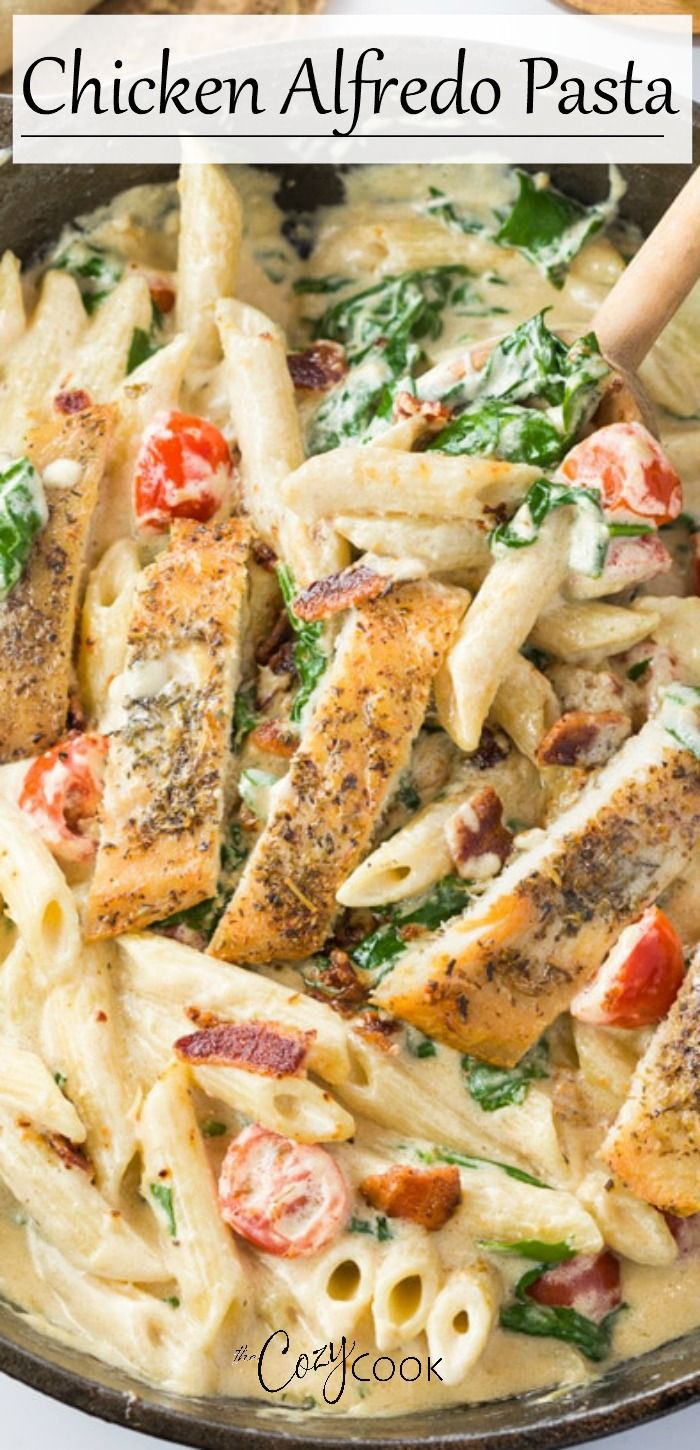 Chicken Alfredo Pasta -   25 dinner recipes for family main dishes chicken breasts ideas