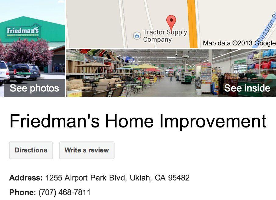 Friedman S Home Improvement Google 3d Tour Ukiah Google Business Photos 3d Tour Produced By Zenergy Works A Googl Business Photos Improve Google Business