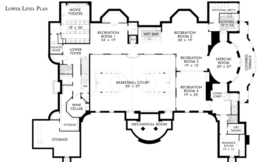 The Stone Mansion In Alpine New Jersey Re Listed For 36 Million Homes Of The Rich In 2020 Mansion Floor Plan Basement Floor Plans Basement Flooring Options