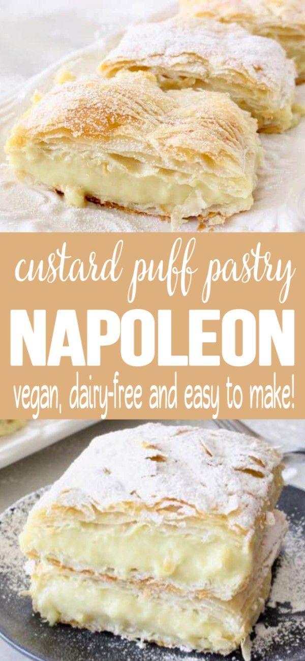 Photo of Vegan Custard Puff Pastry Napoleon