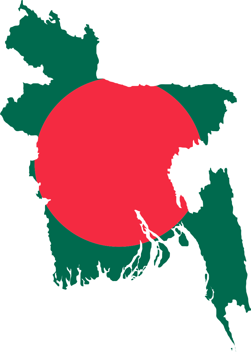 File Flag Map Of Bangladesh Svg Bangladesh Flag Sunset Art