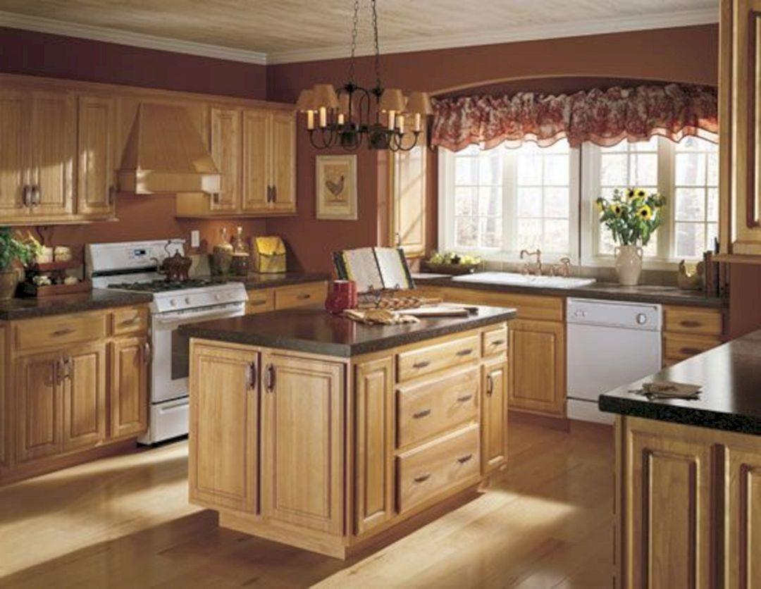 Summer Tour Of Homes Kitchen Wall Colors Oak Kitchen Honey Oak Cabinets