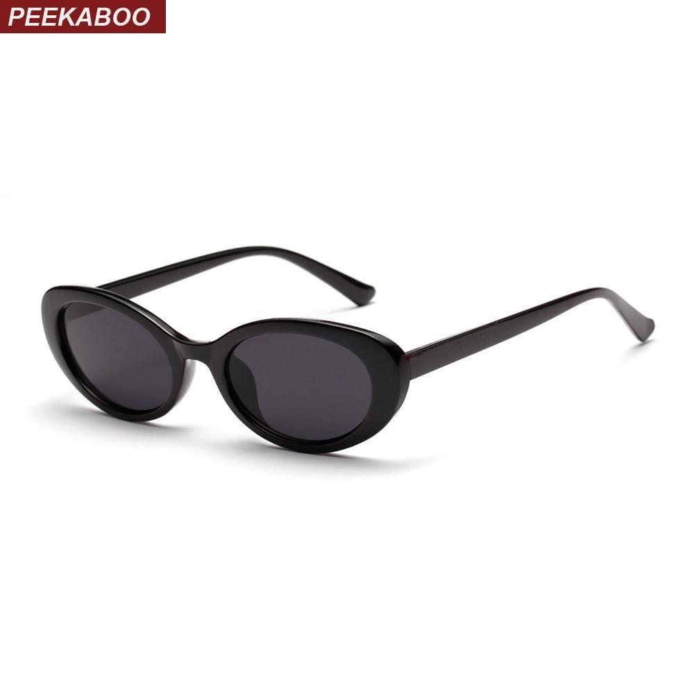 be87a11e859 Peekaboo retro oval sunglasses women small summer accessories 2018 pink  white black oval sun glasses for