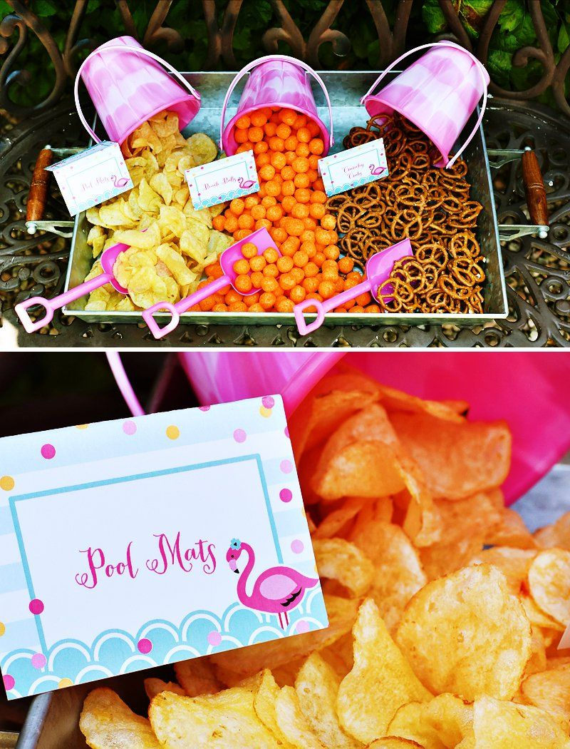 Chic u creative pink flamingo pool party flamingo birthdays and