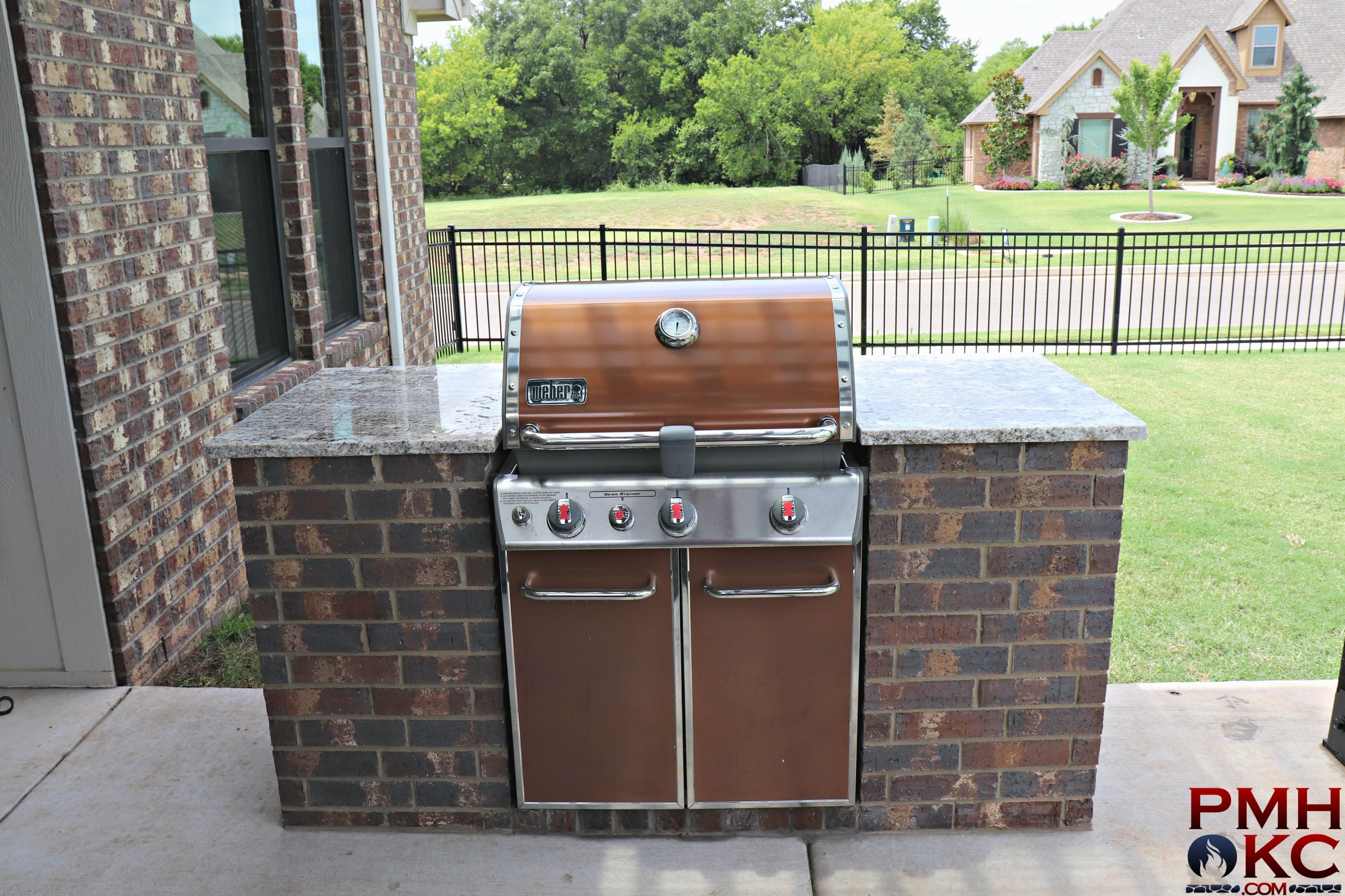 Outdoor Kitchens Okc Okc Pergolas Pmh Okc Outdoor Kitchen
