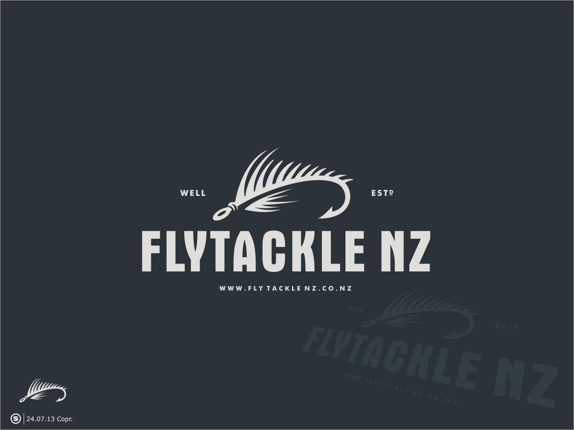 Logo For Flytackle Nz Logo Design 97 By Scribe Logo Design Fish Logo Logo Design Inspiration