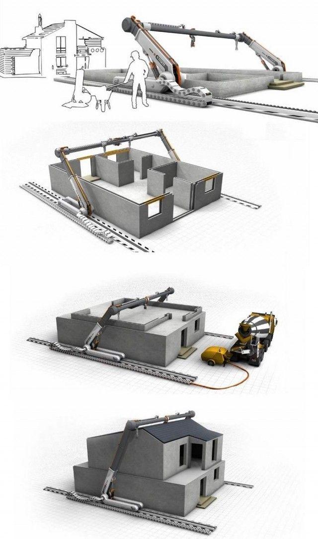 3d print your own house video zukunft mikrohaus und haus und wohnen. Black Bedroom Furniture Sets. Home Design Ideas