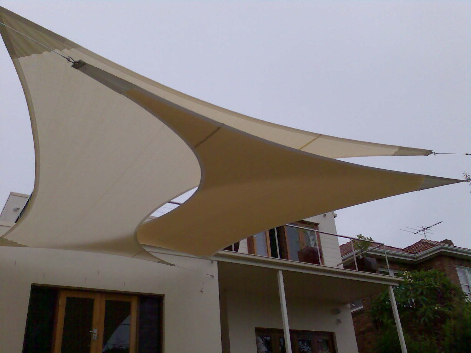 This Is A Creative Use Of Sail Awnings For Shading Large