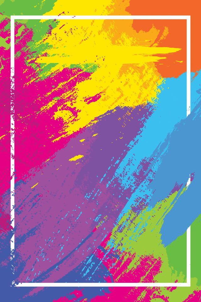 Watercolor Colorful Background Poster