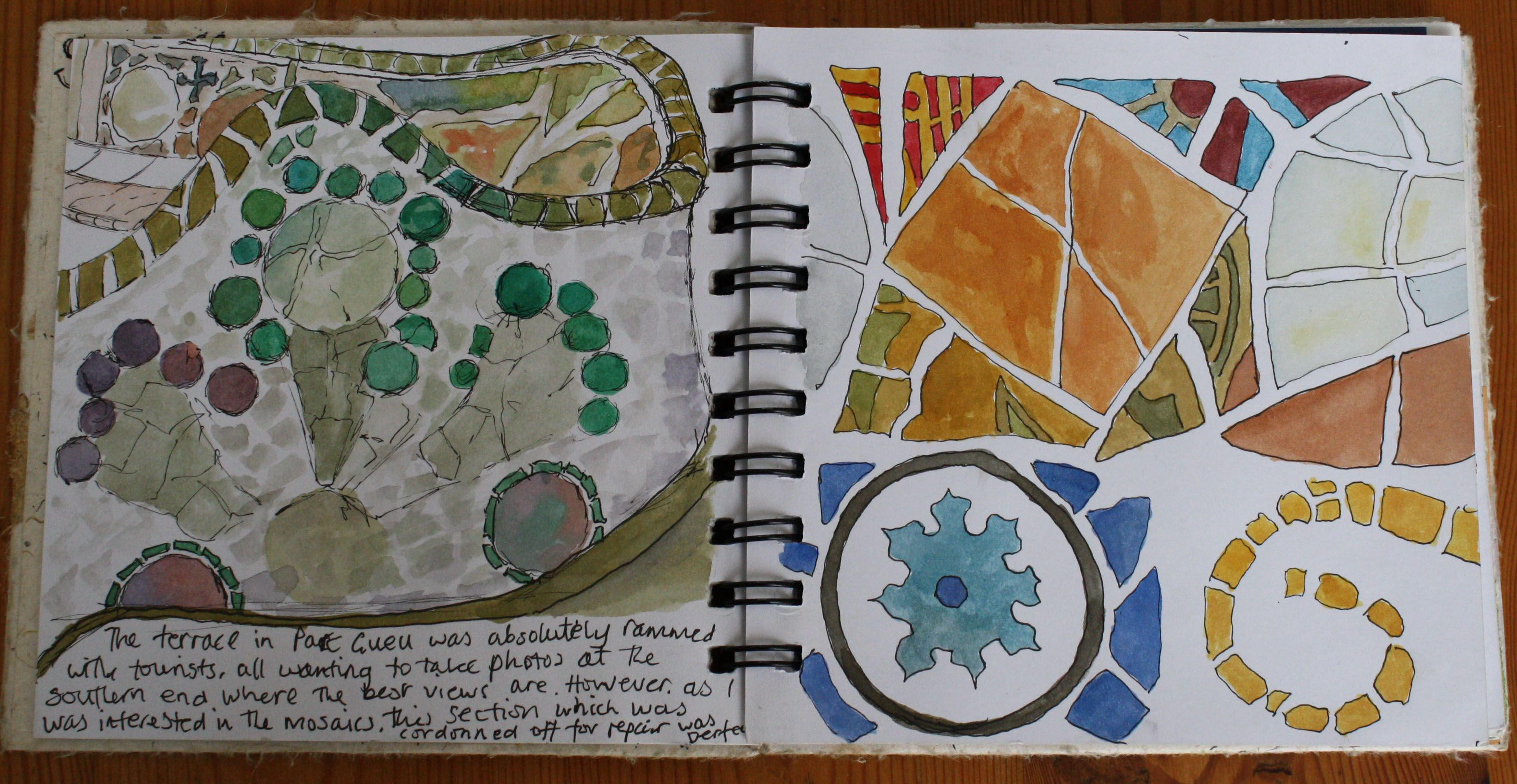 sketchbook pages | Gaudi sketchbook page | Addiction | Art ...