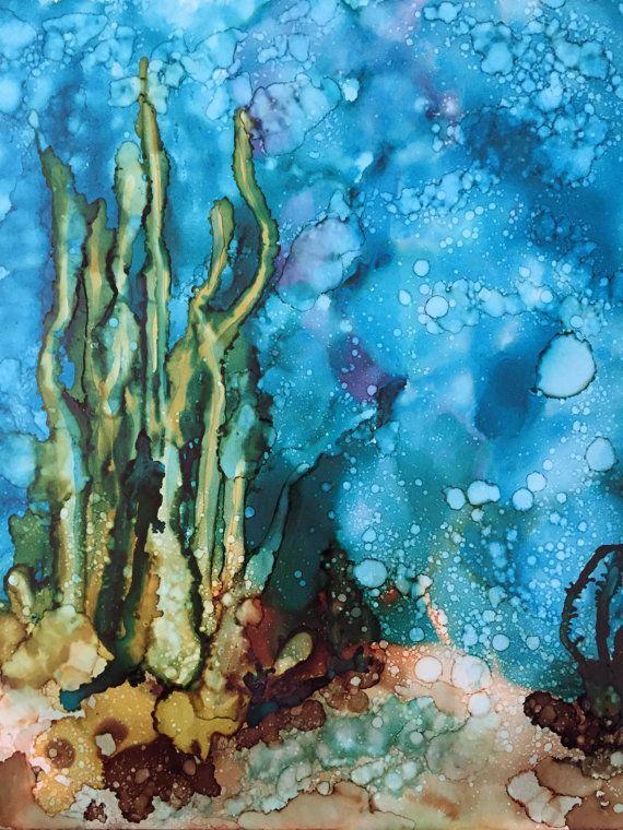 underwater painting seaweed - 570×760