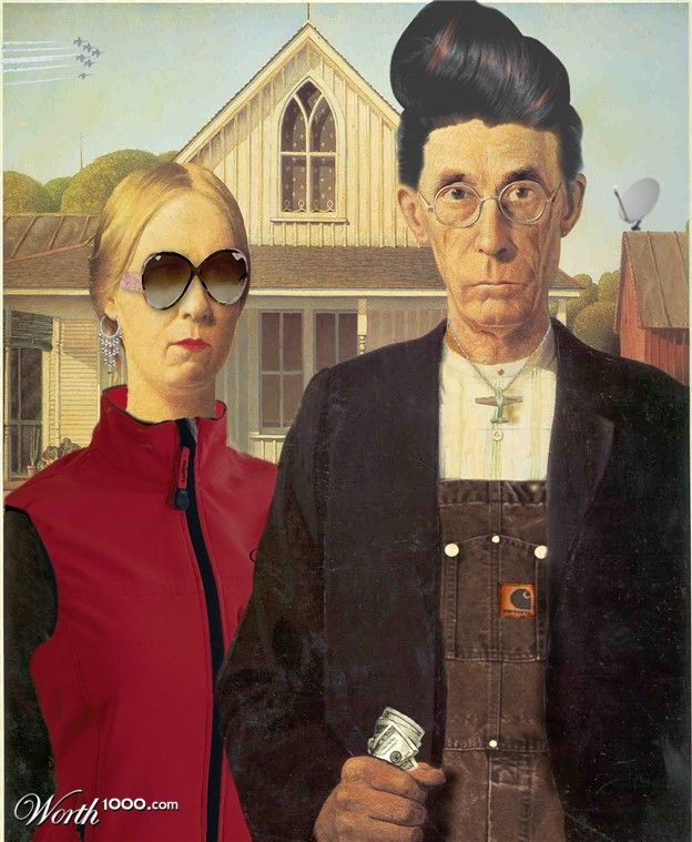 I Don T Know What To Say American Gothic Parody American Gothic Grant Wood American Gothic
