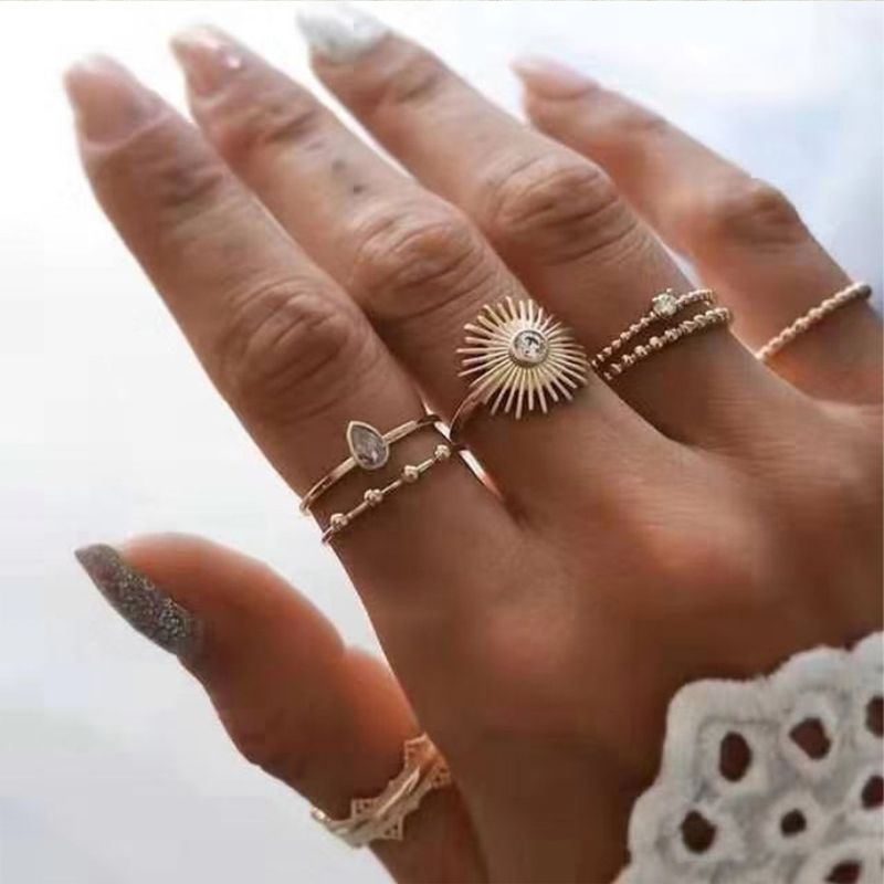 Buy Cheap Cheap Ring Lovely Trendy 7 Piece Gold Metal Ring Clothes Shoes In 2020 Fashion Rings Accesories Jewelry Jewelry