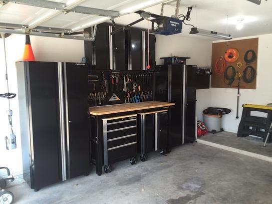 Husky 98 In H X 145 In W X 24 In D Steel Garage Cabinet Set In