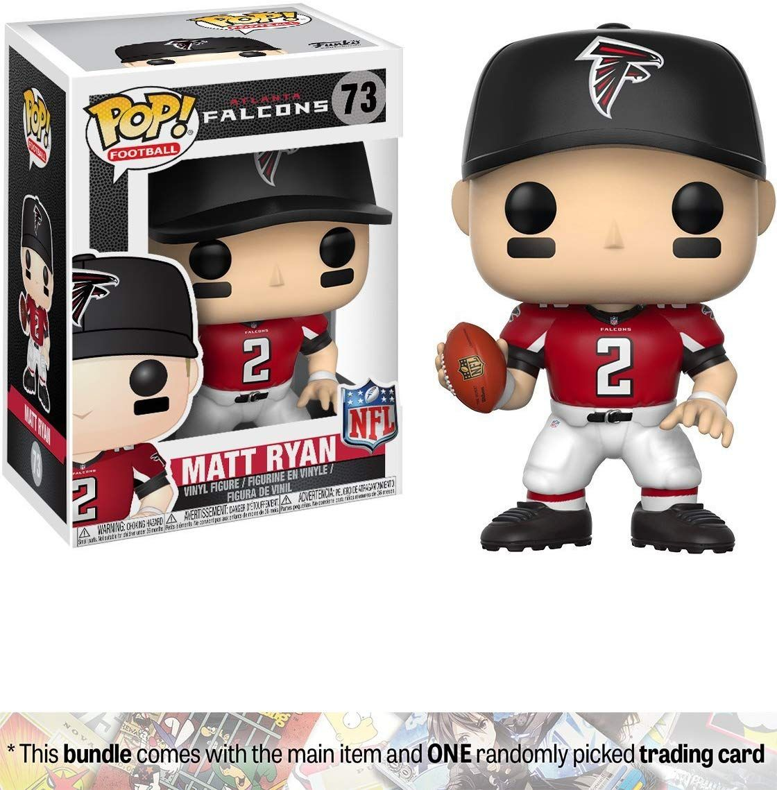 Matt Ryan Falcons Home Funko Pop Football X Nfl Vinyl Figure 1 Official Nfl Trading Card Bundle 20164 Matt Ryan Matt Ryan Falcons Pop Figurine