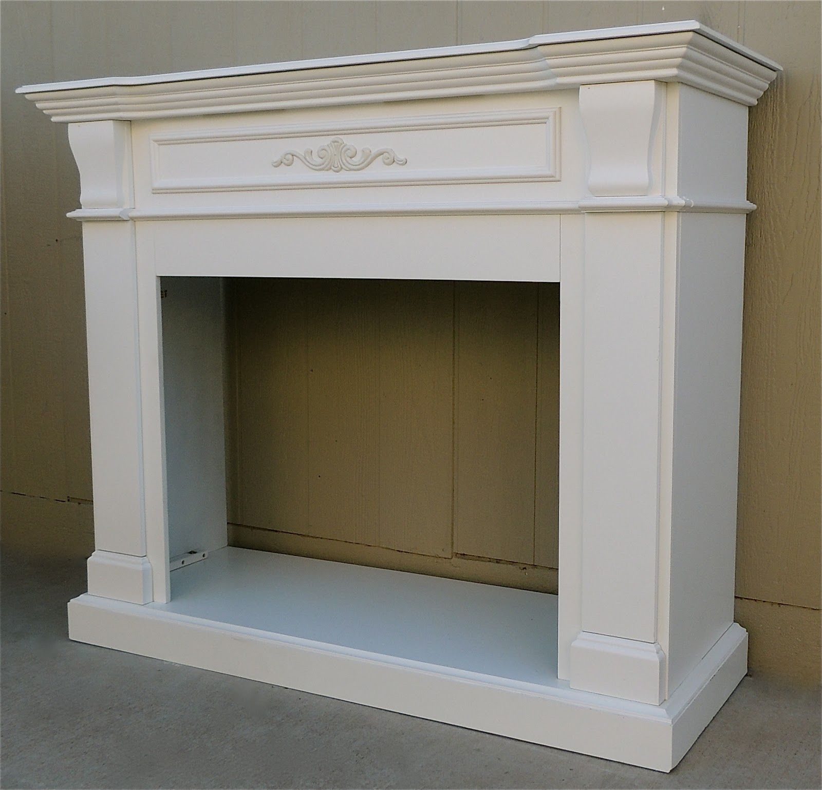 For Sale Is A Beautiful Fireplace Mantle That Has Been Painted A Crisp White It Measures 56 Wide X 2 Shabby Chic Fireplace Faux Fireplace Faux Fireplace Diy