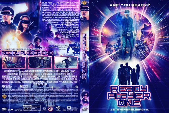 ready player one 2018 dvd custom cover download. Black Bedroom Furniture Sets. Home Design Ideas