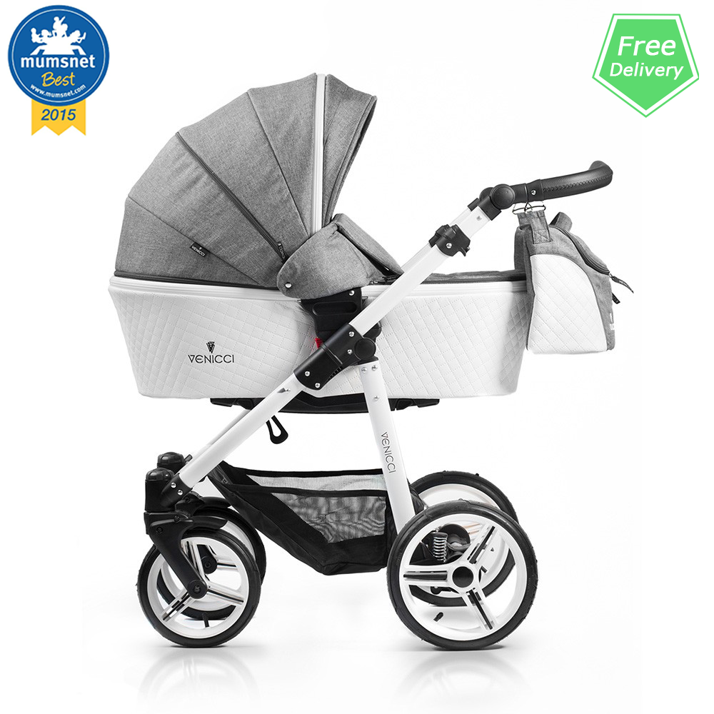 Venicci Pure Denim Grey Prestige Edition Travel System