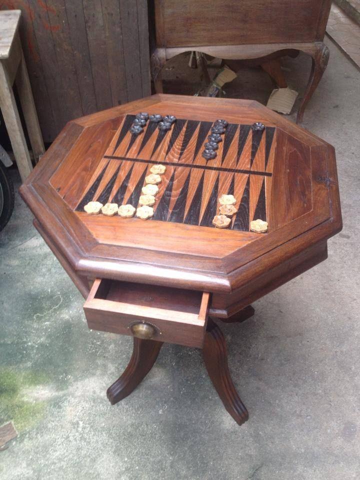 Custom Made Backgammon Table Custom made Backgammon Table Solid