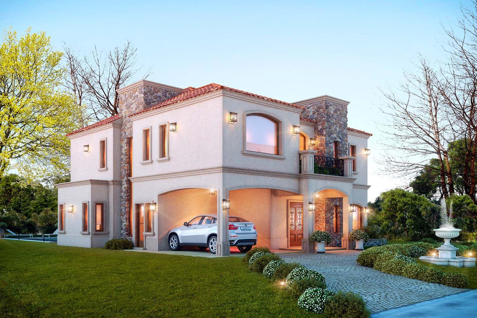 Estudio nf y asociados casa claudio en 2019 frentes de for Fachadas de casas estilo clasico