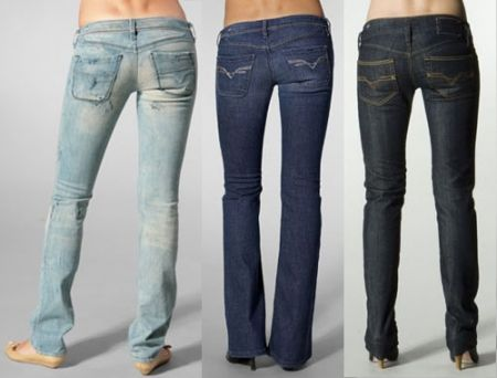 99234451 Jean back pockets go slightly below butt crease. Makes butt look higher.  Try moving pockets down on old jeans / shorts. #diy #jeanpockets  #backpockets
